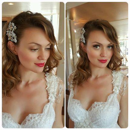 Прическа и макияж для невесты на Санторини