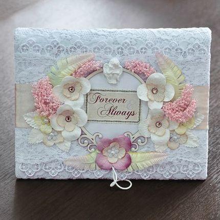 Свадебная книга пожеланий в подарочной коробке