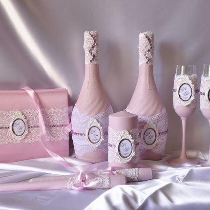 """Набор из 8 предметов """"ШеббиШик розовый"""""""