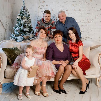 Семейная фотосессия, 1-1,5 часа