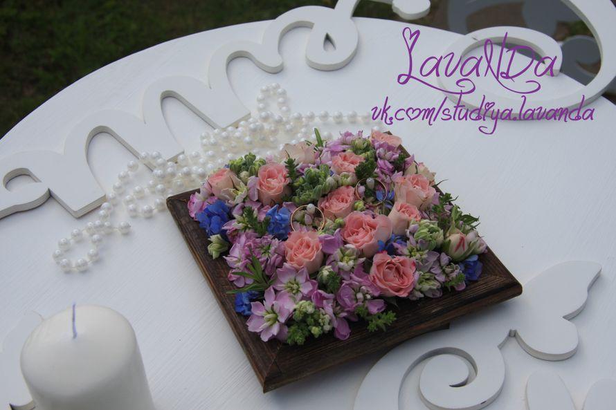 подушечка для колец из живых цветов для Артёма и Насти - фото 11047792 Студия декора LavaNDa