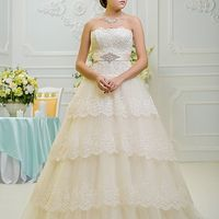 пышное свадебное платье айвори в туле