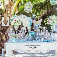 Оформление стола на свадьбе в стиле Тиффани