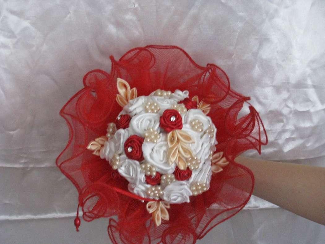 букет дублер по технике канзаши, подойдет к любому свадебном платью  - фото 2082646 Sweet dream - букеты из конфет