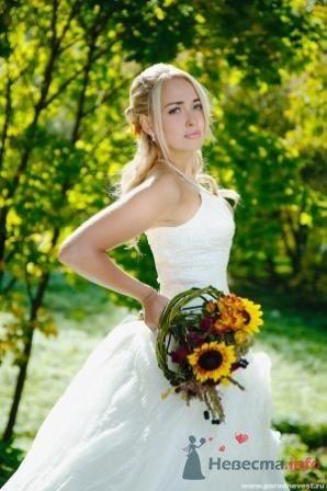 Осенние невесты(букет из ивовых прутьев с подсолнухами) - фото 1091 Флорист-дизайнер Елена