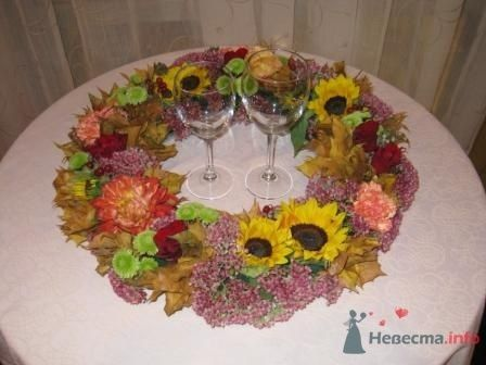 Осенний венок на фуршетный столик - фото 1117 Флорист-дизайнер Елена