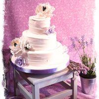 торт свадебный Пионы и розы