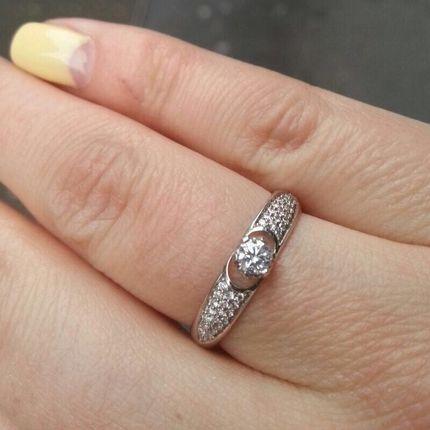 Арт010 Обручальное кольцо (женское)