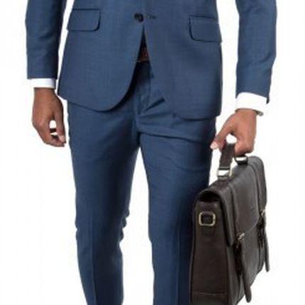 Темно-голубой мужской костюм Gagliardi