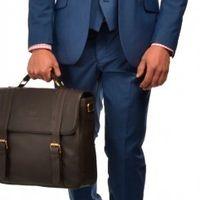 Темно-голубой мужской костюм тройка Gagliardi