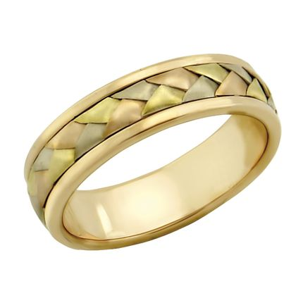 Обручальное кольцо ручной работы