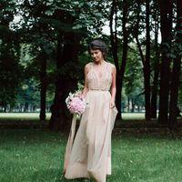 Невеста, фотосессия в Михайловском саду