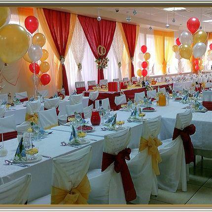 Оформление зала, свадебный декор