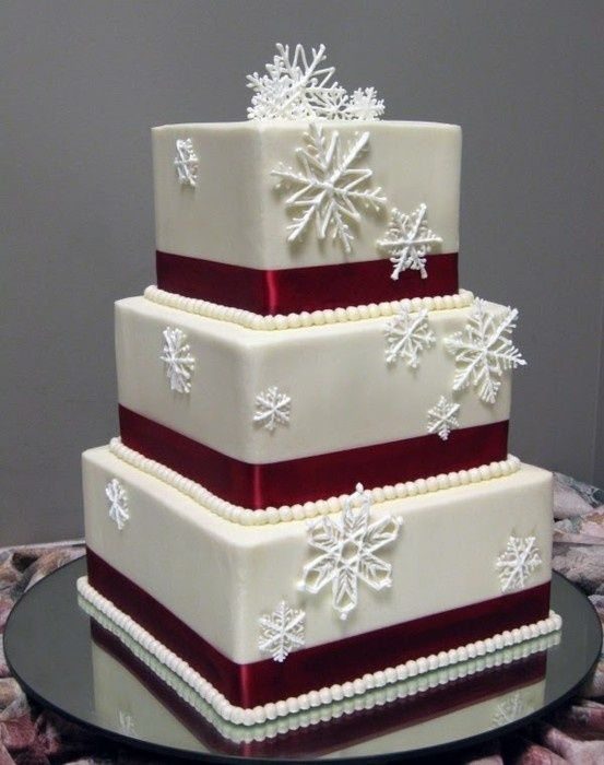 Свадебный торт в зимнем стиле фото