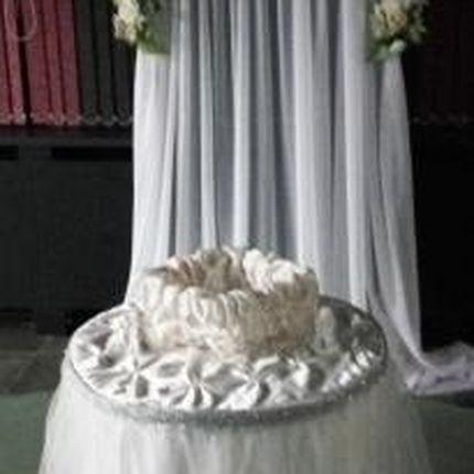 Оформление президиума в белом цвете