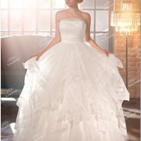 Элегантное  корсетное  свадебное  платье.Цена  48300  рублей.