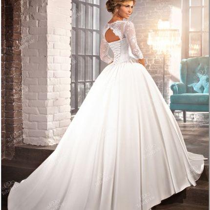 """Свадебное платье с кружевом """"шантильи"""""""