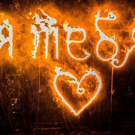"""Огненные надпись """"Я тебя люблю"""""""