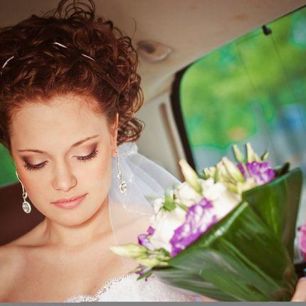 Причёска и макияж на свадьбу