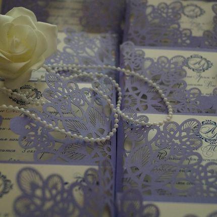 Свадебные приглашения на заказ, цена за 1 шт