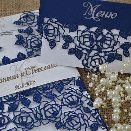 Свадебные приглашения с лазерной резкой, цена за 1 шт