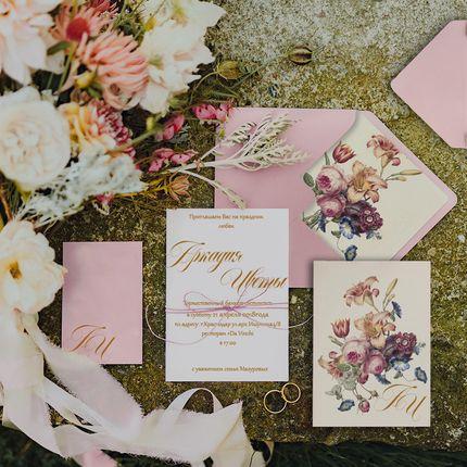 """Свадебное приглашение  """"Цветы"""""""