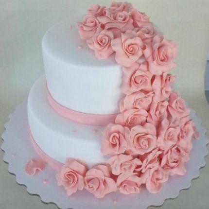 Свадебный двухъяросный торт, 6 кг