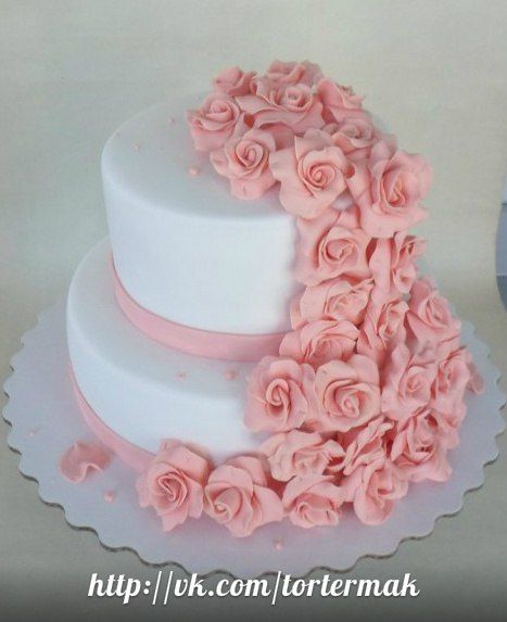 Свадебный двухъярусный торт, 6 кг
