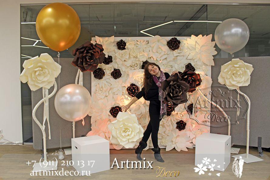 """Аренда фотозоны из больших цветов на презентации компании - фото 12373342 Дизайн-студия декора и флористики """"Артмикс"""""""