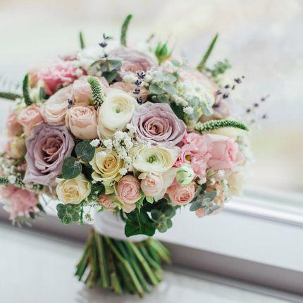 Букет невесты + бутоньерка в подарок!