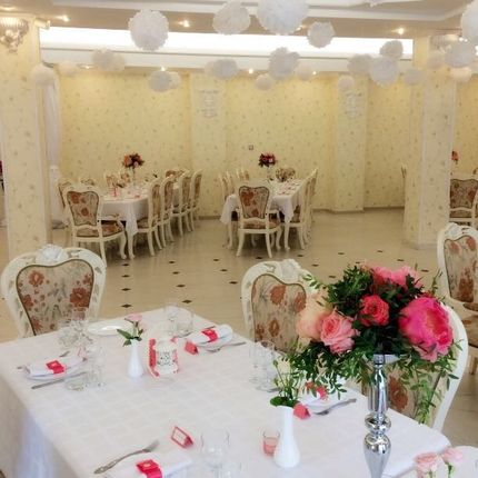 Оформление потолка на свадьбе
