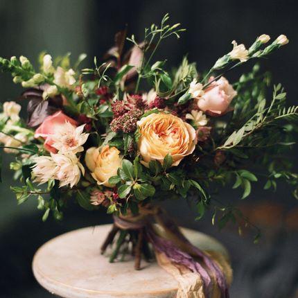 Букет невесты из садовых роз