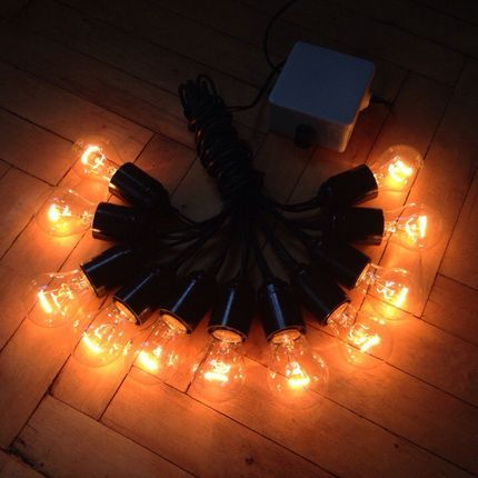 Ретро гирлянда из ламп накаивания 5 метров на 11 лампочек