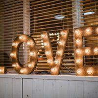 """Объемные буквы в стиле лофт """"Love"""""""