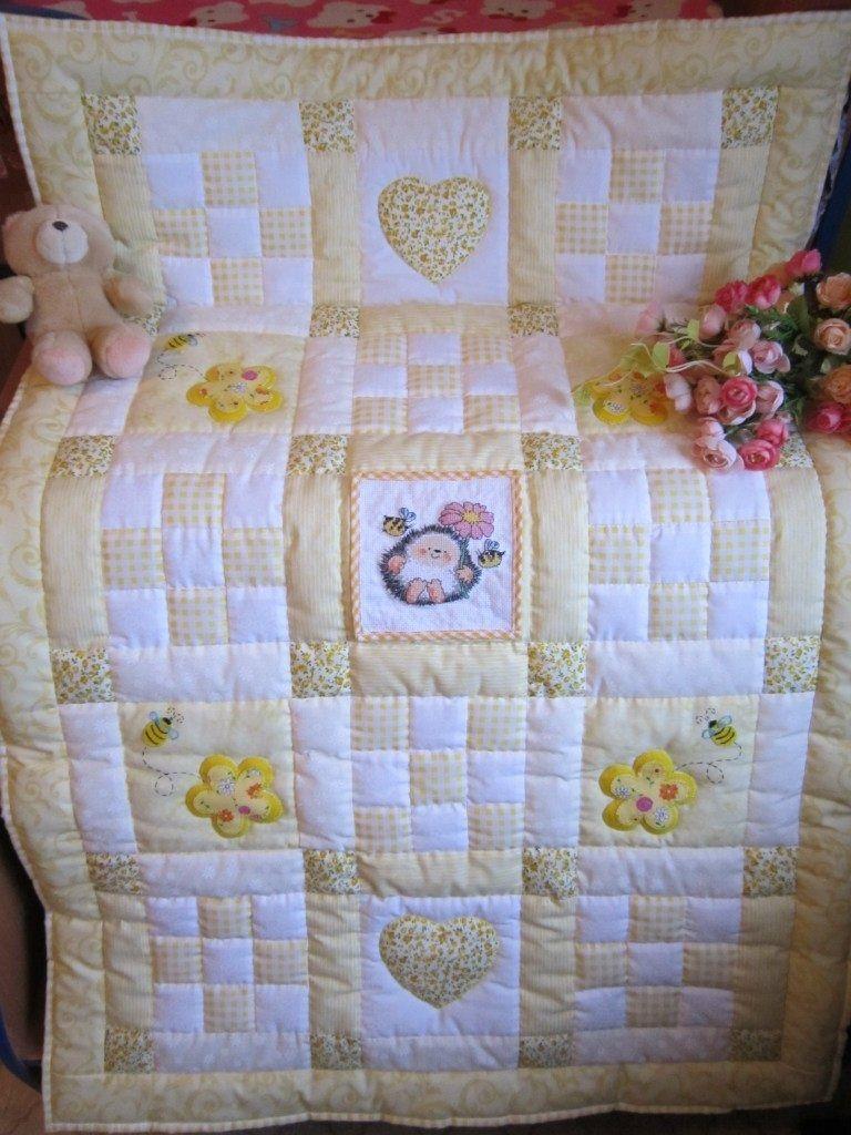Лоскутное одеяло для новорожденного сшить