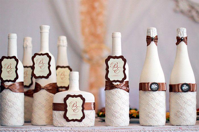 Оформление бокалов и бутылок