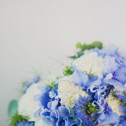 Нежный букет невесты из гортензии