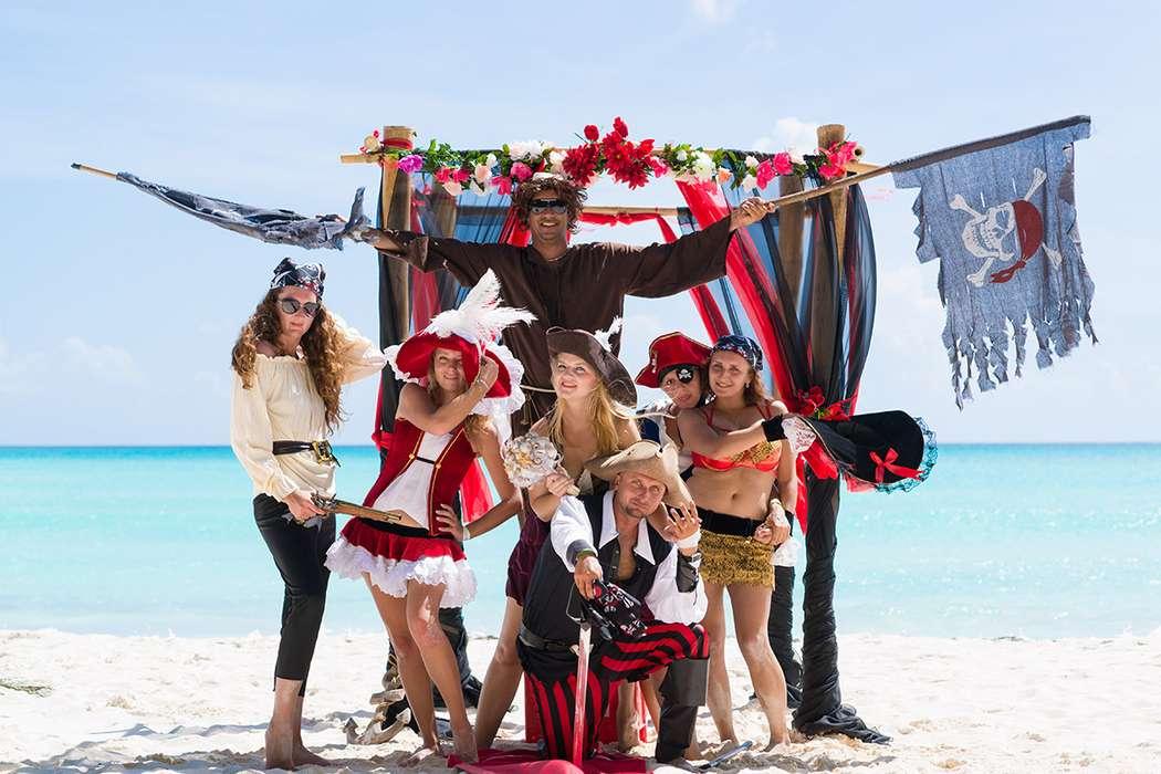Как украсить пиратскую морскую вечеринку фото