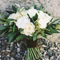 Оливковая свадьба букет