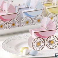 """0003 Бонбоньерка """"детская коляска"""" (розовая , голубая)"""