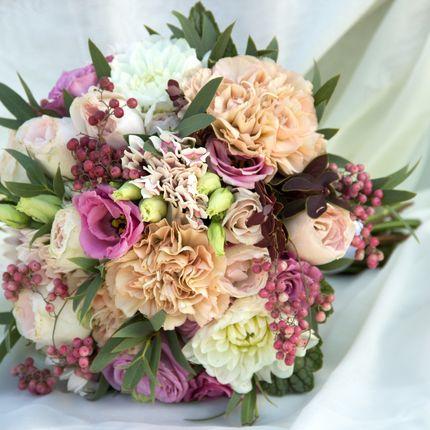 Букет невесты в пастельной гамме