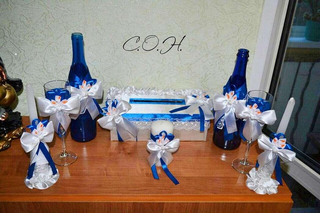 Фото 13440588 в коллекции Фужеры, свадебное шампанское, подушечка для колец, корзиночка - Оформители Wedding Decor73