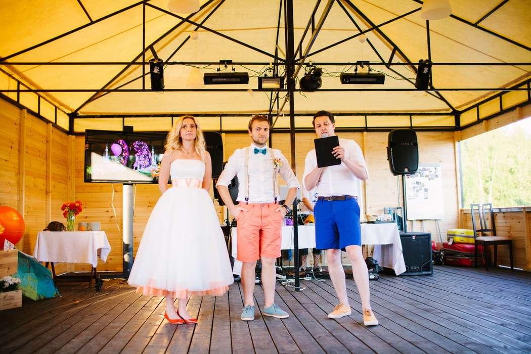 Ведущий Афанасьев Кирилл с молодоженами. Летняя свадьба в шортах. - фото 3893597 Ведущий Афанасьев Кирилл