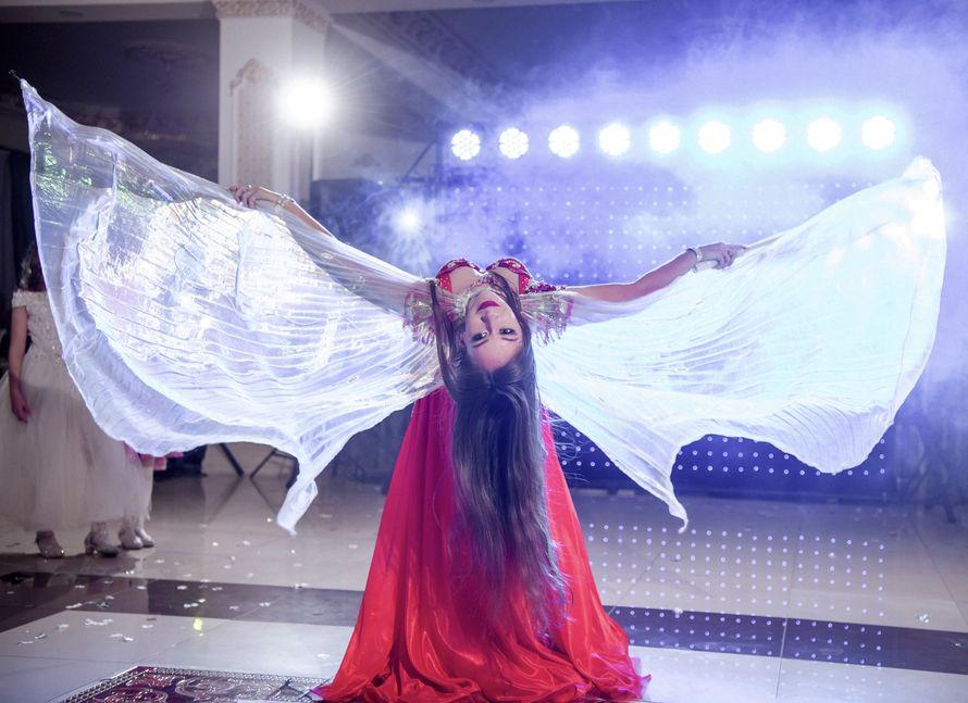 Восточный танец-шоу со светодиодными крыльями, 4-5 мин.