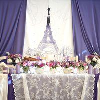 """Оформление и декор стола молодых! Для свадебного торжества в стиле """" Париж"""""""