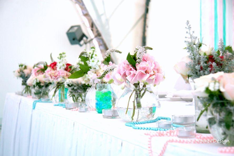 """оформление стола молодых - фото 1406919 Мастерская декора """"Flowerdesign"""""""