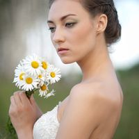 Невеста с букетом из ромашек 16.06.2012