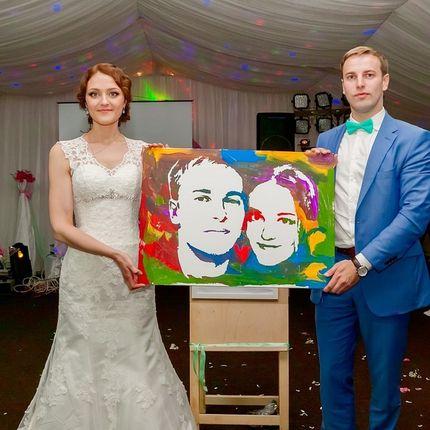 Арт шоу по созданию портрета, 30х40 см