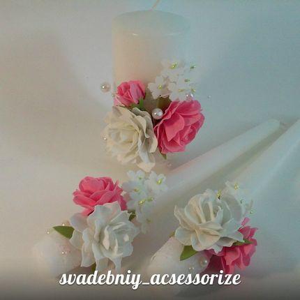 """Свечи для свадебной церимонии """" Cемейный очаг"""""""