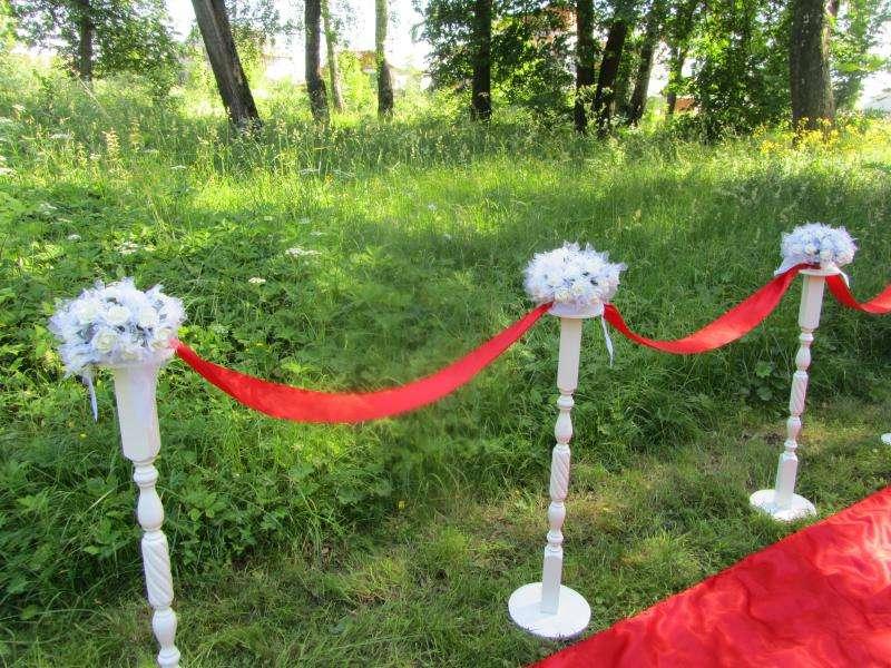 Свадебные стойки для цветов своими руками 21